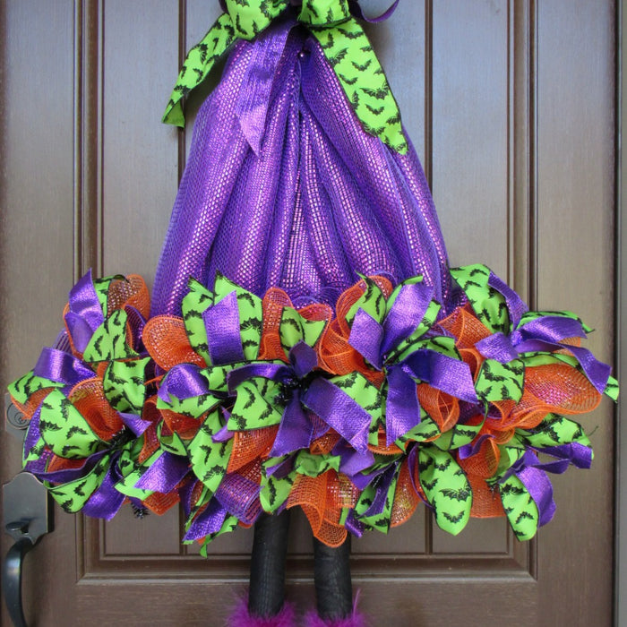 Purple Witch Hat with Legs Tutorial