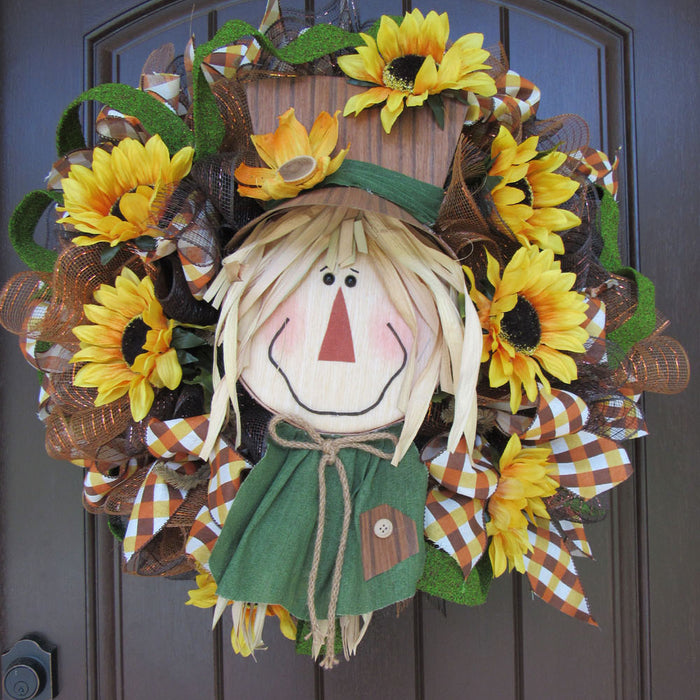 2017 Scarecrow Head Wreath Tutorial