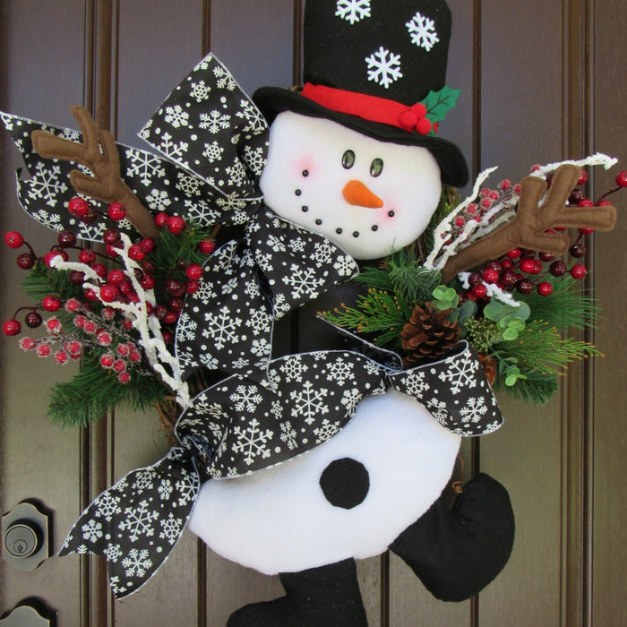 2017 Snowman Grapevine Wreath Tutorial