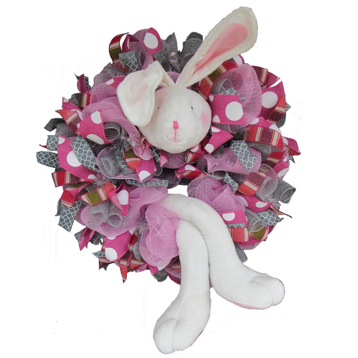 1/23/17 White Bunny Easter Wreath Tutorial