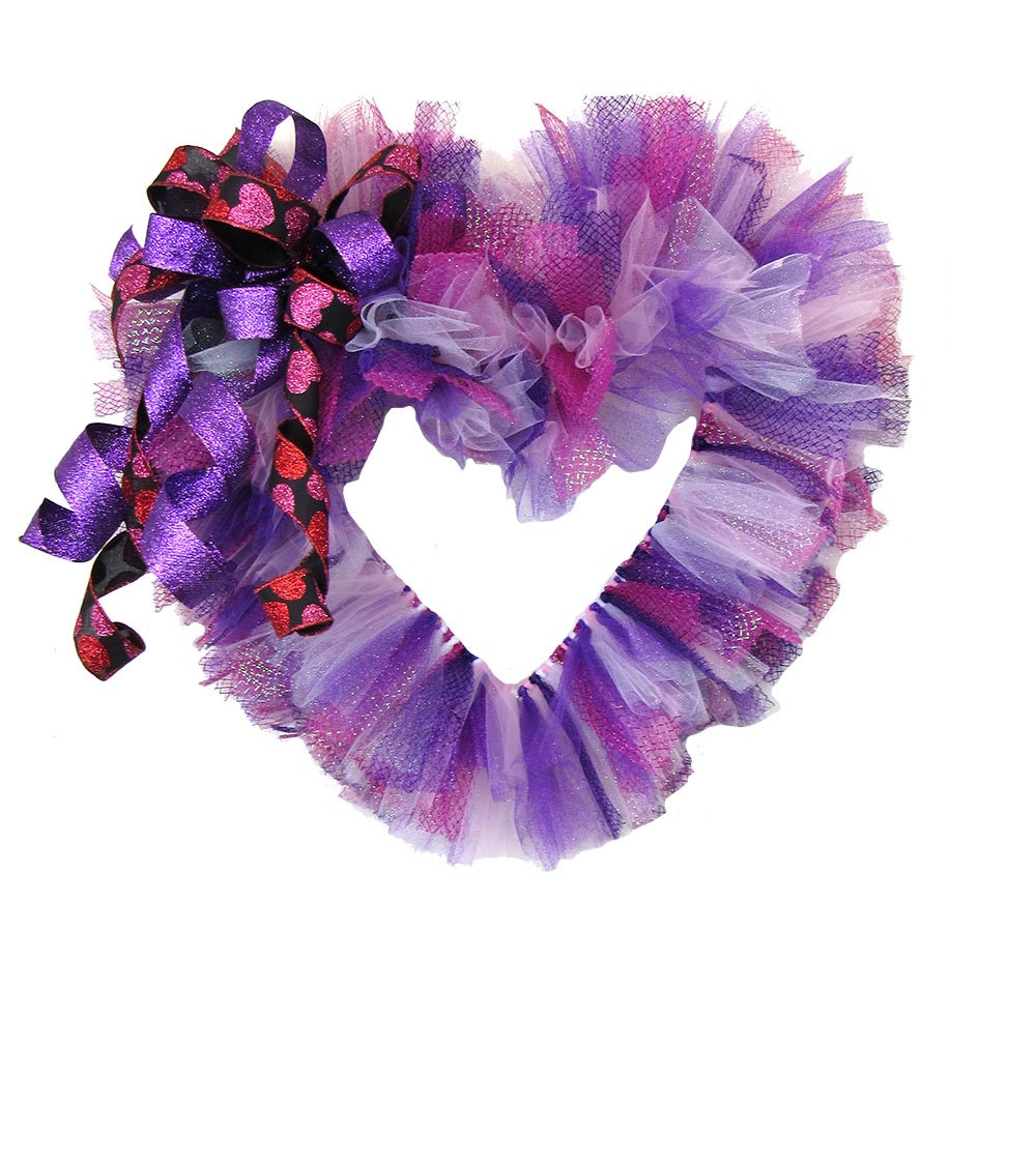 Pink Purple Valentine Wreath