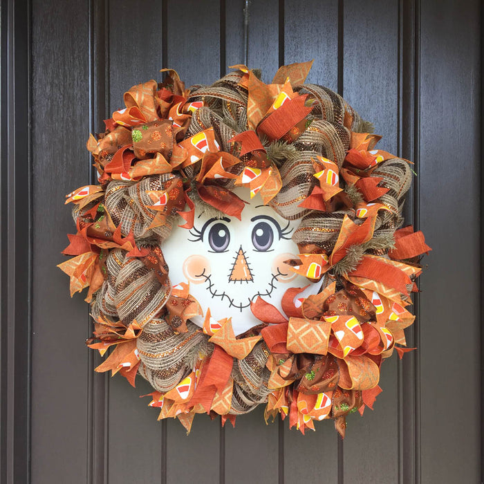 2018 Scarecrow Face Wreath Tutorial