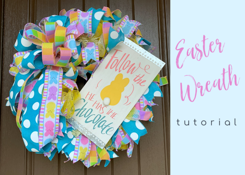 Easter Wreath Tutorial Fabric Mesh