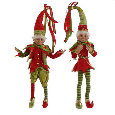 Adding Elves to your Christmas Wreath