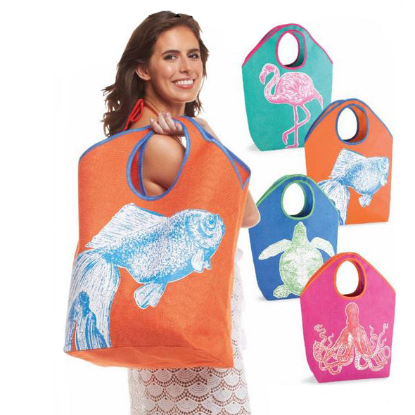 New Product! Mud Pie Beach Totes and Coolers