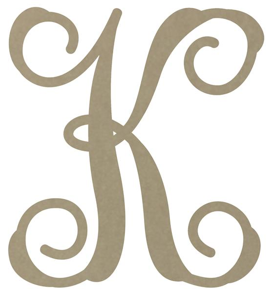 New Style Monogram Letters
