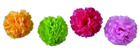 New Product  - Tissue Paper Pom Poms