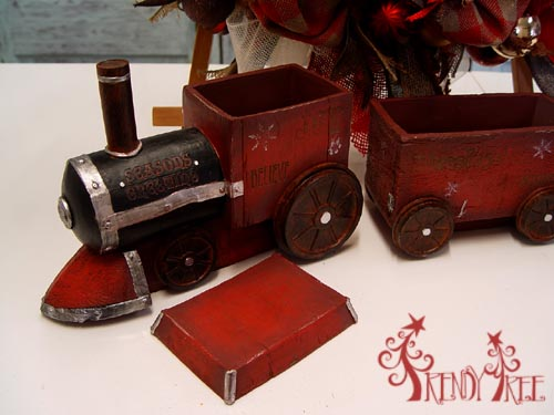 Rustic Red Train Christmas Decoration
