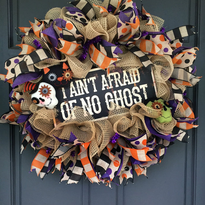 I Ain't Afraid of No Ghost Wreath Tutorial