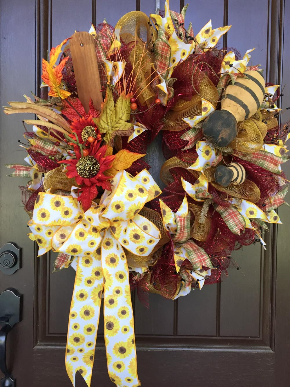 2017 Autumn Wreath with Bees Tutorial