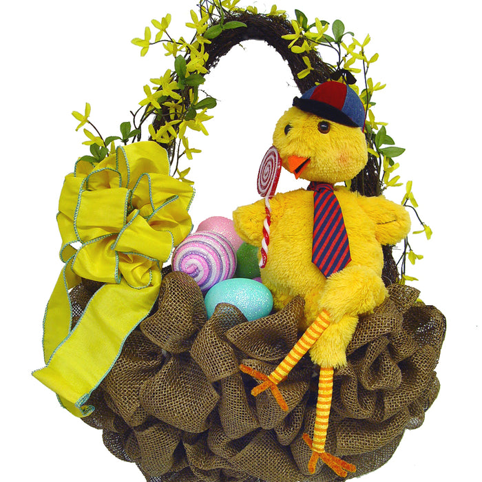 Deco Poly Mesh Easter Basket (Wall Hanging) Tutorial