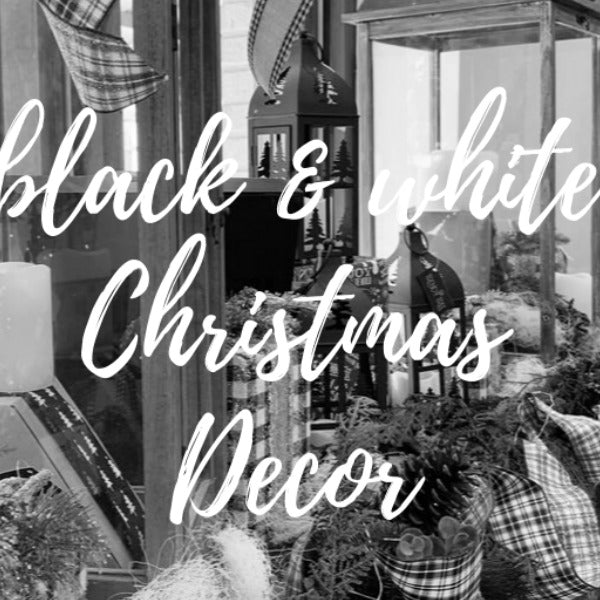 Black & White Christmas Decorations