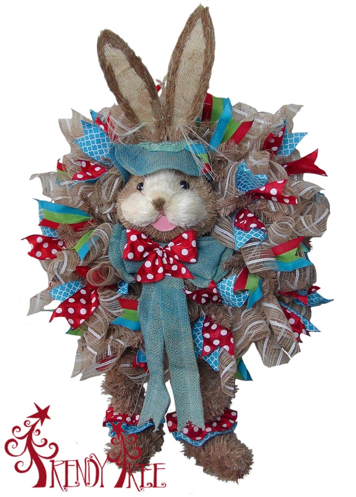 DIY Large Bunny with Legs Wreath