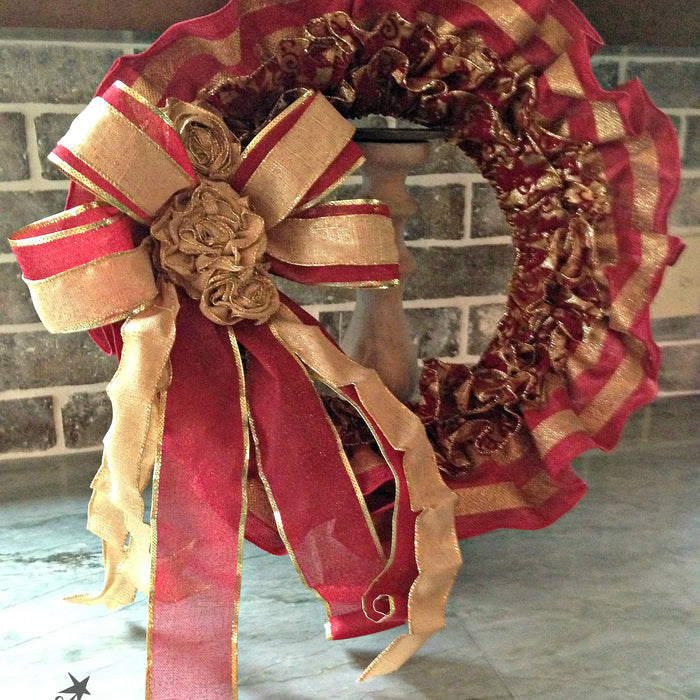 Ruffled Ribbon Wreath Tutorial