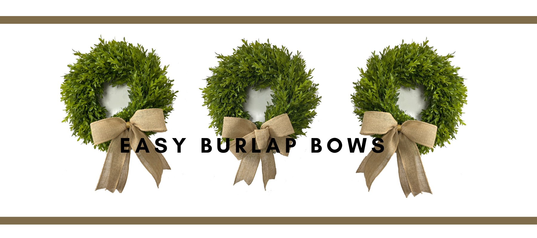 Two Ways to Make a Burlap Bow