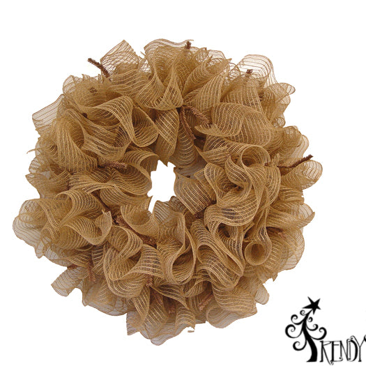"Tutorial Using Poly & Burlap Mesh on a 24"" Pencil Wreath"