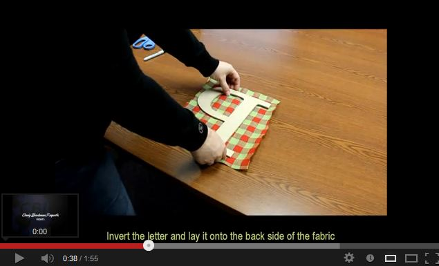 How to Cover a Wooden Letter with Fabric by Craig Bachman Imports