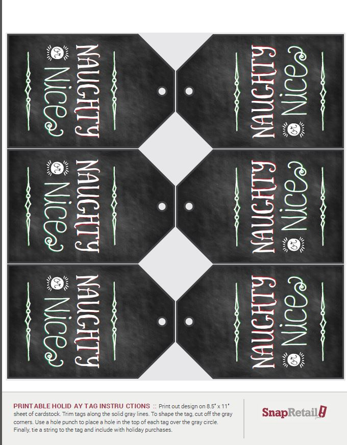 Free Printable Holiday Chalkboard Tags