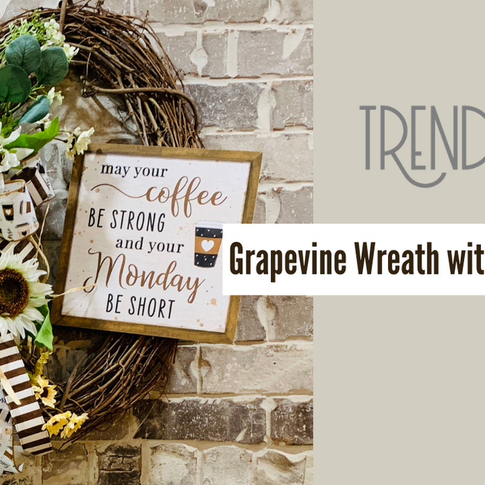 Grapevine Coffee Wreath Tutorial Perfect for Kitchen or Coffee Bar