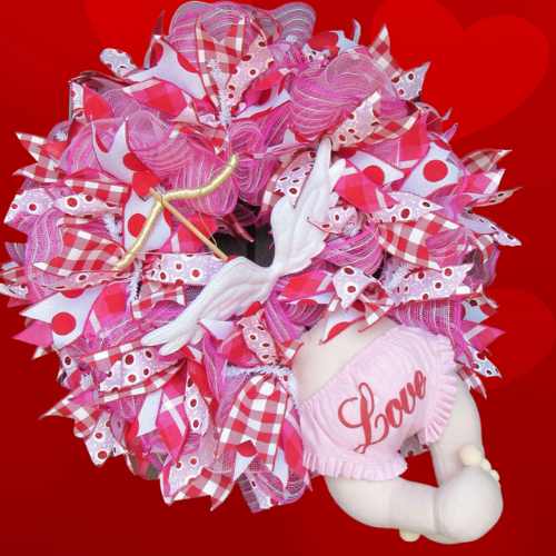 Cupid Valentine Deco Mesh Wreath Tutorial