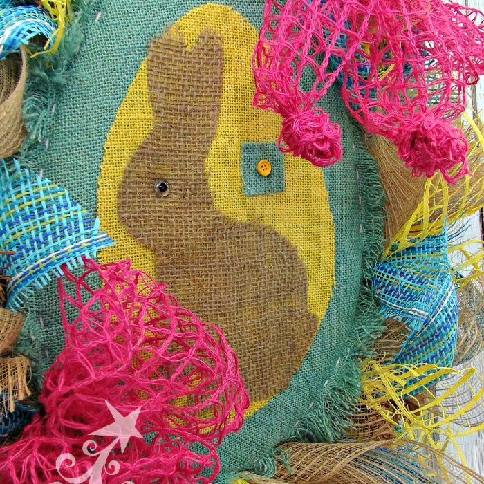 DIY Burlap Easter Wreath
