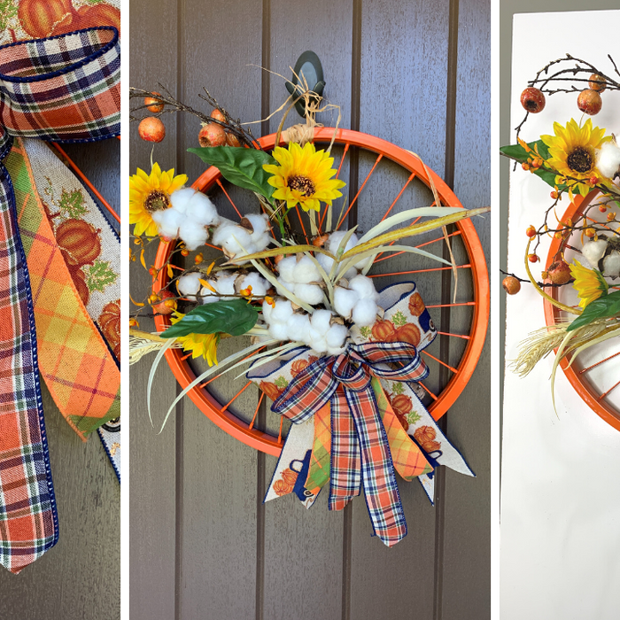 Fall Bicycle Wheel Wreath