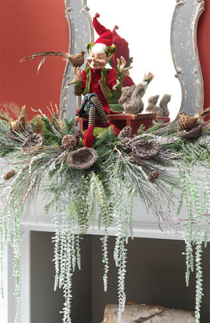 RAZ 2013 Forest Friends Mantel Decoration with Elf