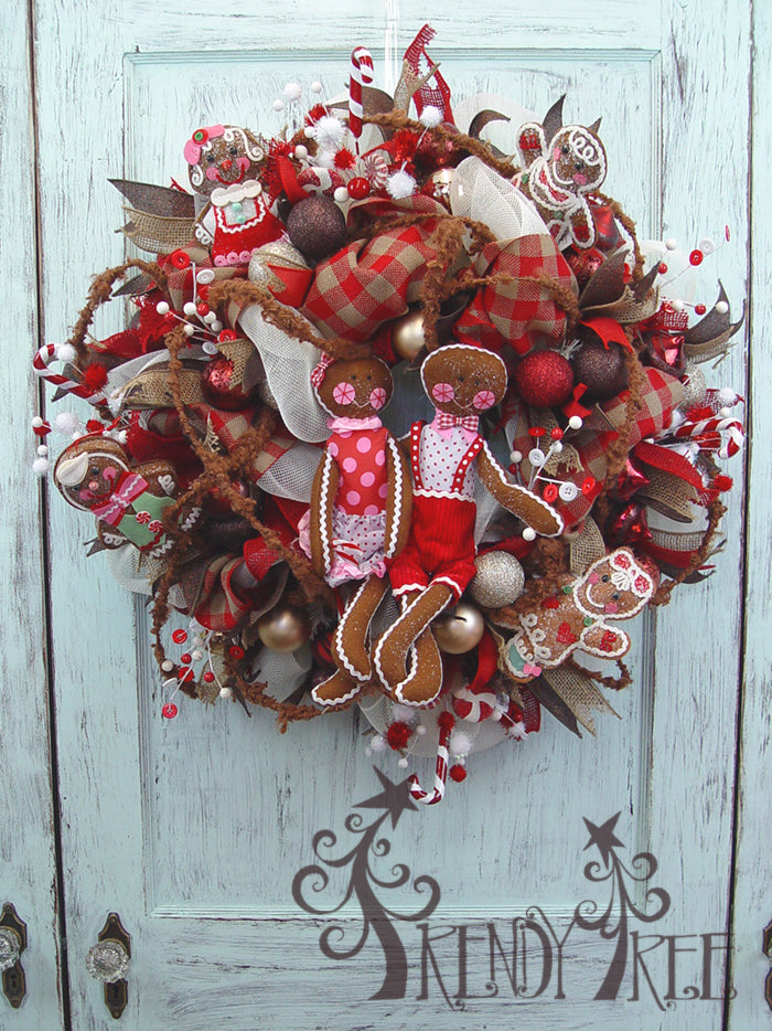 Gingerbread Christmas Wreath Tutorial