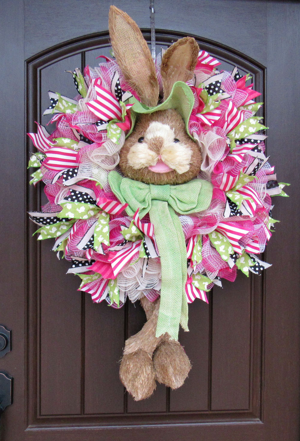 Green Bunny Head & Legs Wreath Tutorial Facebook Live