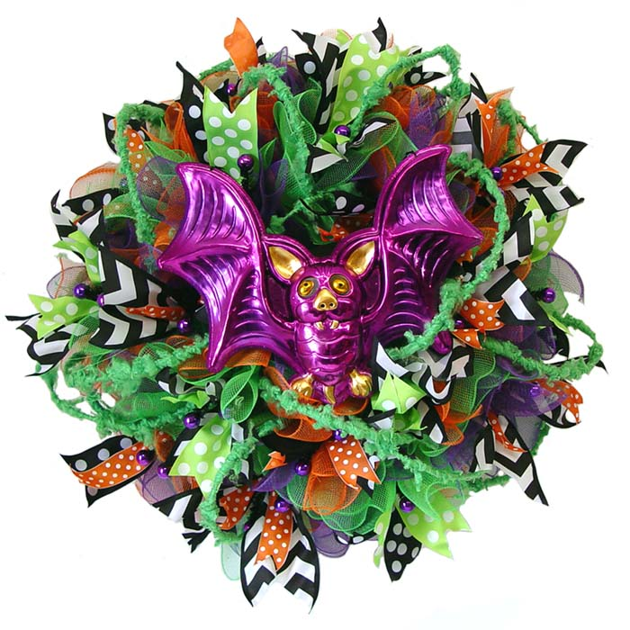 Halloween Ruffle Wreath Tutorial with RAZ Bobble Eye Decor