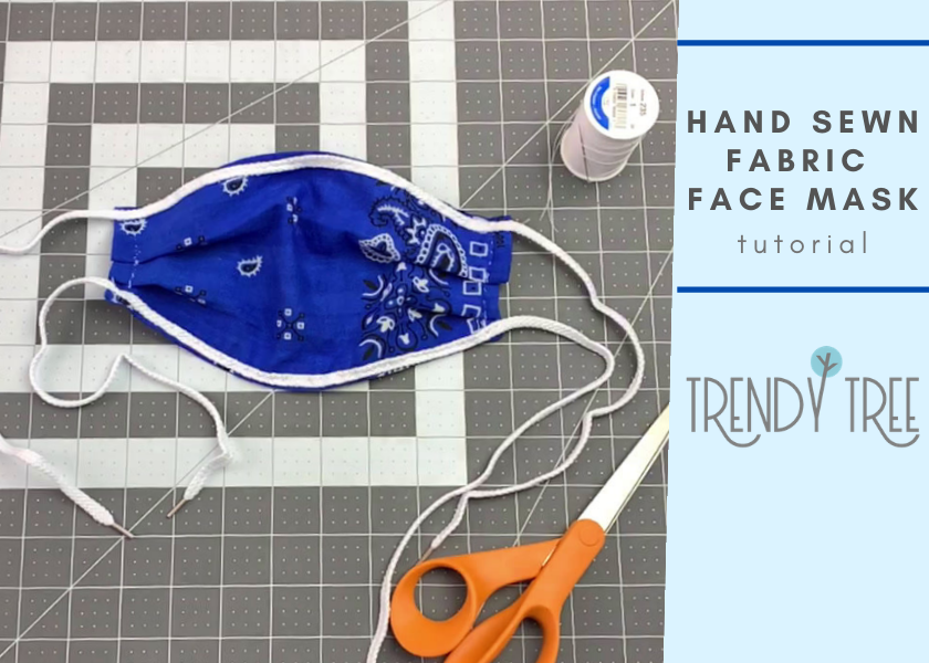DIY How to Make a Hand Sewn Face Mask with Fabric Bandana