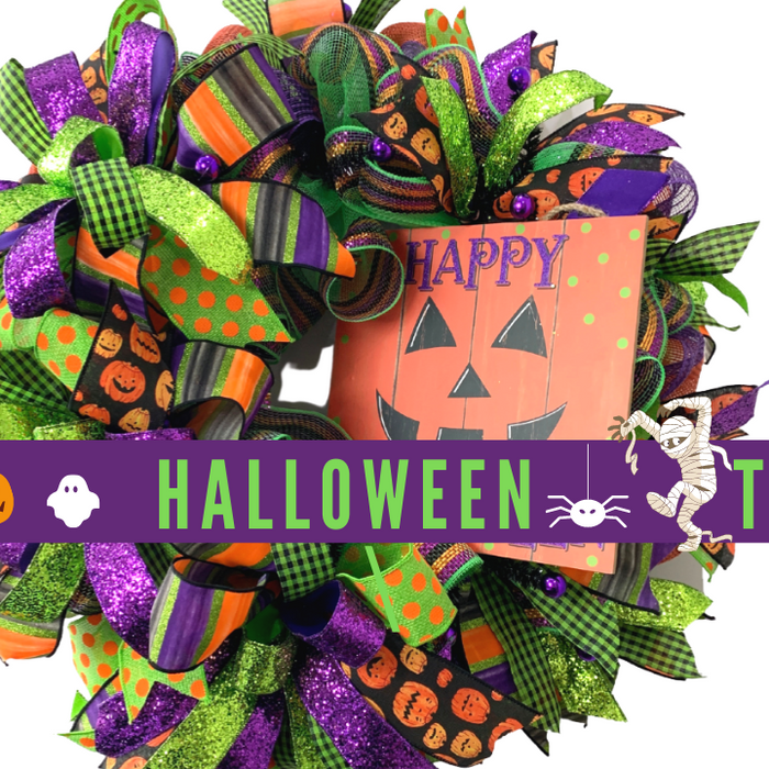 Happy Halloween Wreath Tutorial