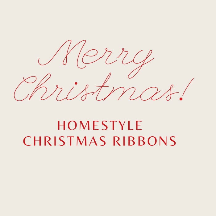 Homestyle Christmas Ribbon