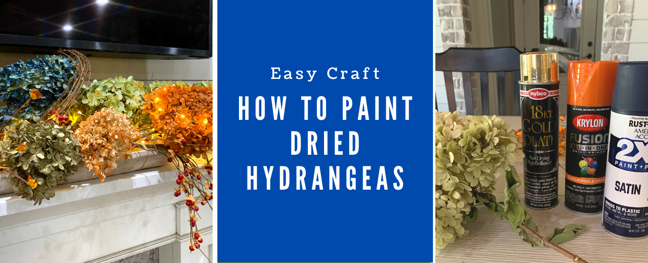 How to Paint Dried Hydrangeas