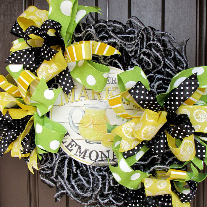2018 April Lemonade Wreath Tutorial