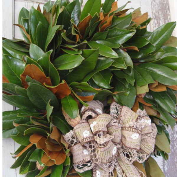 Fresh Magnolia Wreath Tutorial