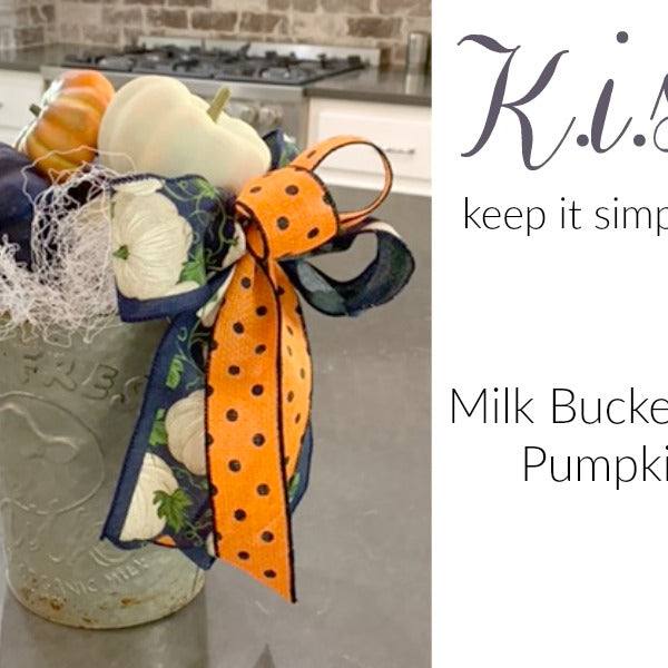 Milk Bucket with Pumpkins