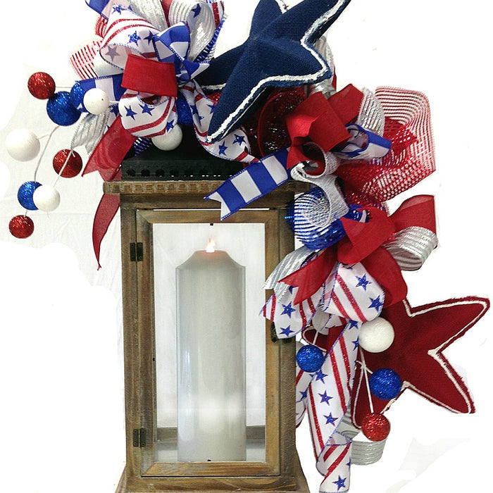 Patriotic Lantern Topper Tutorial 2016