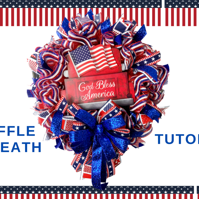 God Bless America Patriotic Wreath