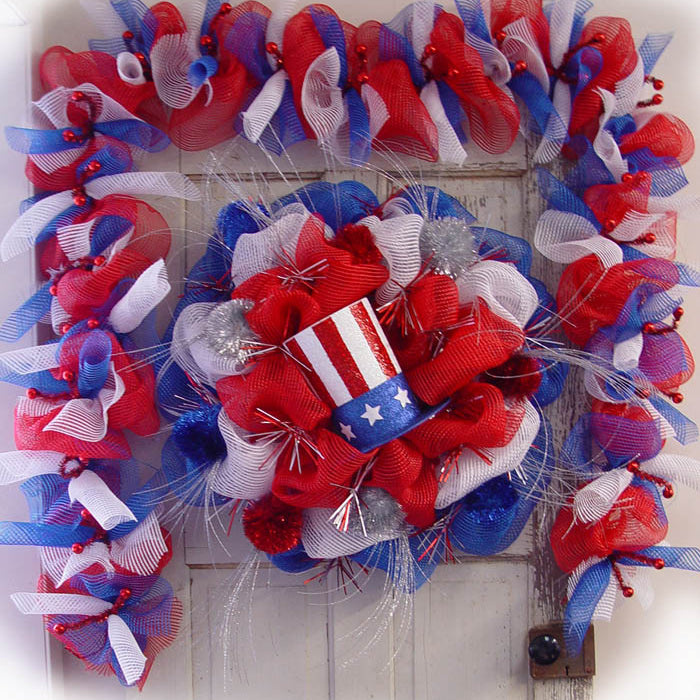 Patriotic Wreath & Garland Tutorial