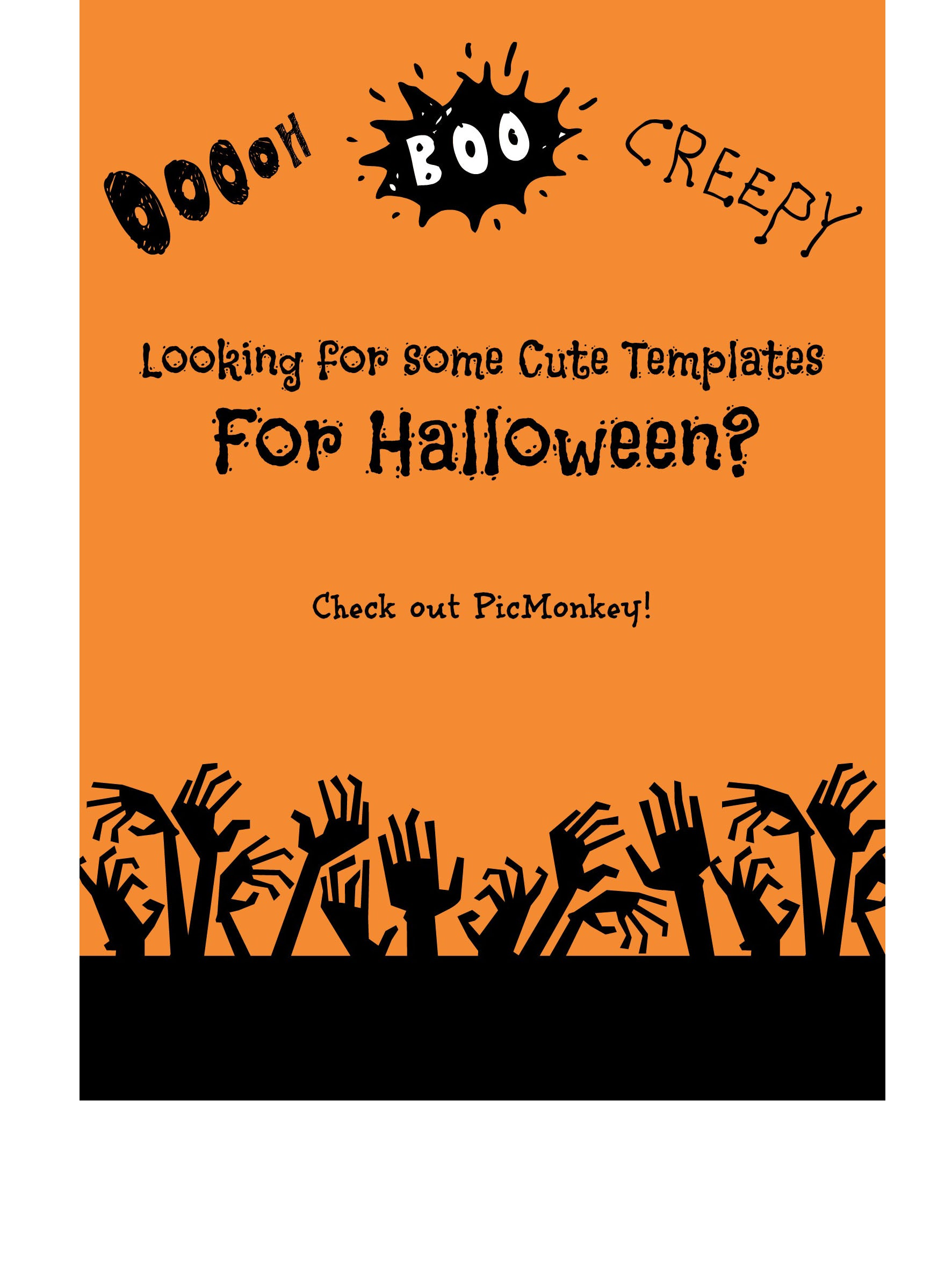 Need Some Cute Templates for Halloween? Try PicMonkey