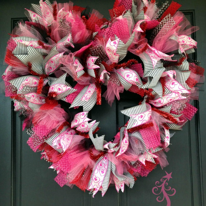 Basic Pink Valentine Wreath Tutorial 2016