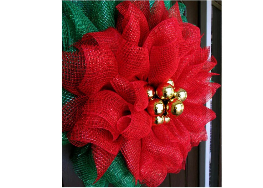 Poinsettia Mesh Wreath Tutorial
