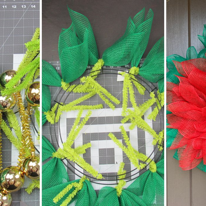 Poinsettia Faux Burlap Wreath Tutorial 2020