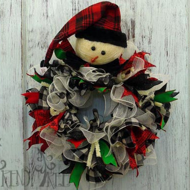 RAZ Primitive Snowman Wreath Tutorial