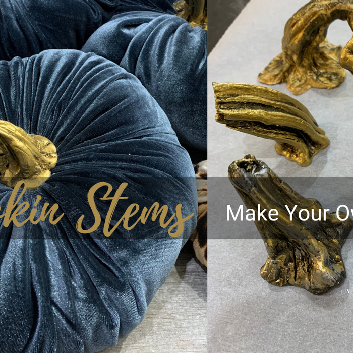 Make Your Own Pumpkin Stems from Clay