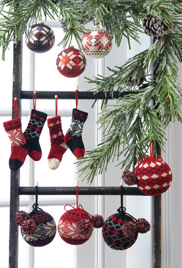 Window Decoration from RAZ Aspen Sweater Collection - Knitted Ornaments