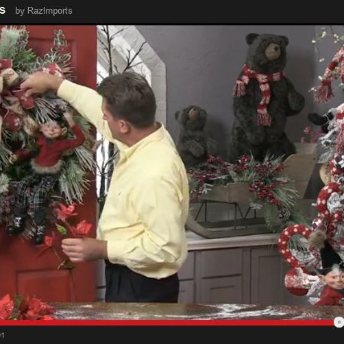 RAZ Wreath Demonstration Using an Elf from the Aspen Sweater Collection