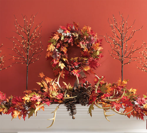 RAZ Autumn Mantle Display Using the Antler Sprays