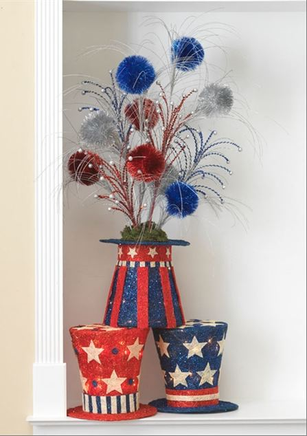 Create a Patriotic Centerpiece for President's Day